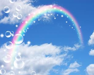 青空と虹の写真素材 [FYI00276130]