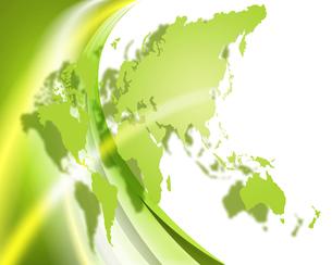 エコ世界地図の写真素材 [FYI00276157]