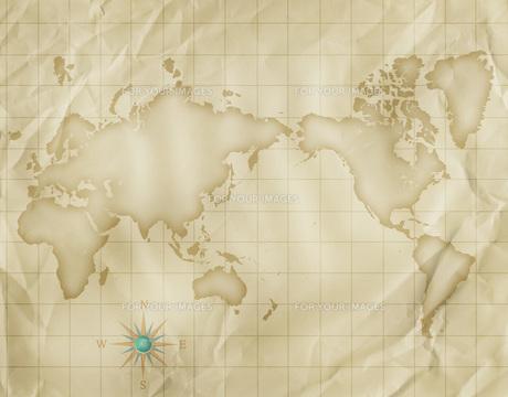 古い世界地図の写真素材 [FYI00276170]