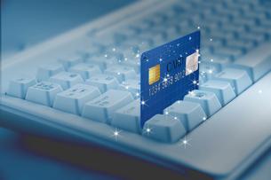 キーボードとクレジットカードの写真素材 [FYI00276191]