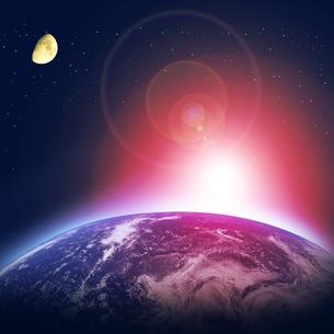 地球と月の写真素材 [FYI00276278]