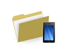 スマートフォンと書類の写真素材 [FYI00276293]
