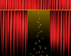 ステージカーテンの写真素材 [FYI00276307]