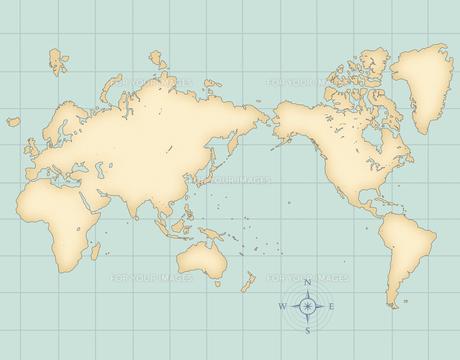古い世界地図の写真素材 [FYI00276345]