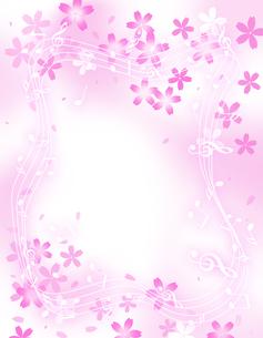 サクラと音楽の写真素材 [FYI00276401]
