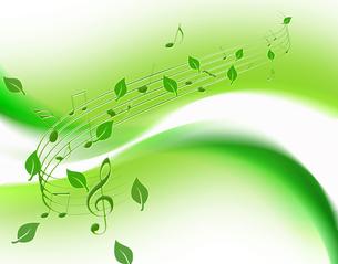 若葉と音楽の写真素材 [FYI00276512]