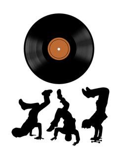 音楽とストリートダンスの写真素材 [FYI00276527]