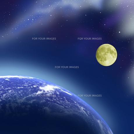 地球と月の写真素材 [FYI00276531]