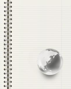 ノートと地球儀の写真素材 [FYI00276585]