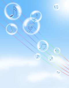 青空と音楽の写真素材 [FYI00276612]