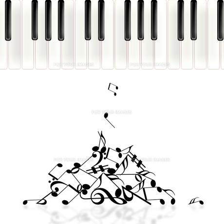 ピアノを弾くの写真素材 [FYI00276624]