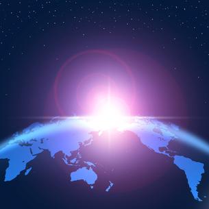地球の夜明けの写真素材 [FYI00276634]