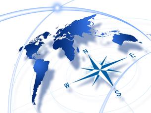 世界地図とコンパスの写真素材 [FYI00276648]