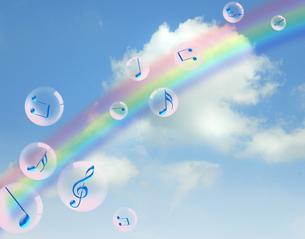 青空と音楽の写真素材 [FYI00276678]