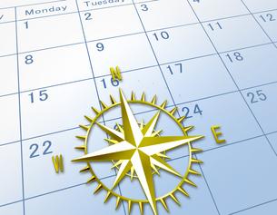 カレンダーとコンパスの素材 [FYI00276685]