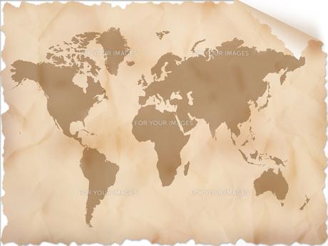 古い世界地図の写真素材 [FYI00276699]