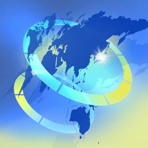 壮大な世界地図の写真素材 [FYI00276714]