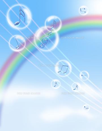 音楽と青空の写真素材 [FYI00276726]