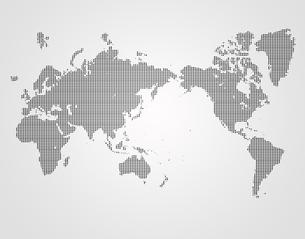ドット世界地図の写真素材 [FYI00276761]