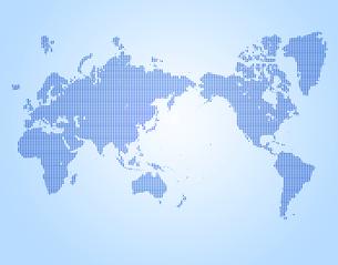 ドットの世界地図の写真素材 [FYI00276797]
