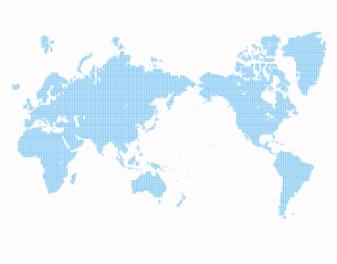 点描の世界地図の写真素材 [FYI00276881]