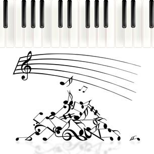 ピアノと譜面の写真素材 [FYI00276892]