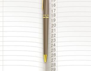 手帳とボールペンの写真素材 [FYI00276909]