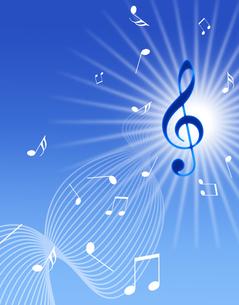 青空と音楽の写真素材 [FYI00276930]