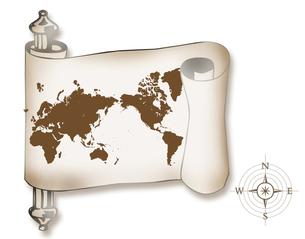 古い世界地図の写真素材 [FYI00276989]