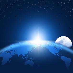 地球と月の写真素材 [FYI00277003]