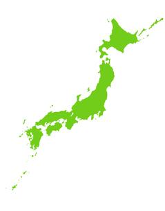 日本地図の写真素材 [FYI00277056]