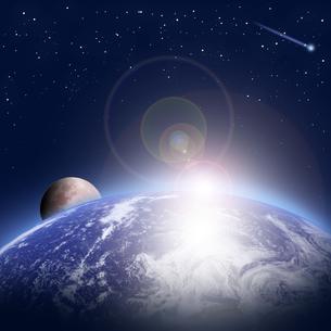 地球の夜明けの写真素材 [FYI00277132]