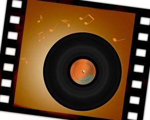 レコード盤とフィルムの写真素材 [FYI00277210]