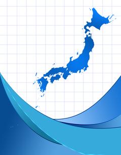 日本地図とフレームの写真素材 [FYI00277271]