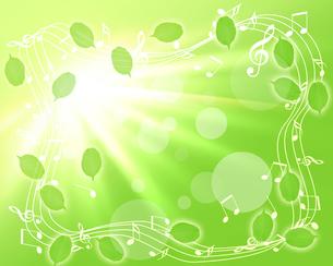 新緑と譜面の写真素材 [FYI00277278]