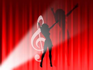 女性歌手の写真素材 [FYI00277306]