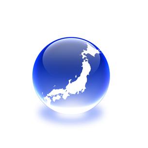 ガラス玉の中の日本地図の写真素材 [FYI00277308]