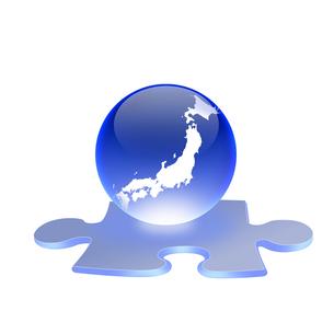 日本地図とジグソーパズルの写真素材 [FYI00277317]