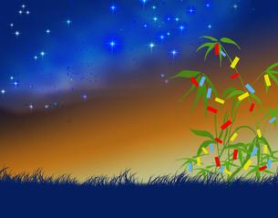 七夕祭りと天の川の写真素材 [FYI00277346]