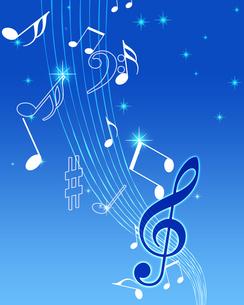 星空と音楽の写真素材 [FYI00277386]