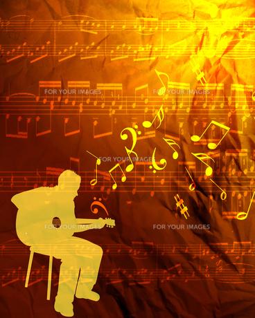 ギター演奏の写真素材 [FYI00277398]