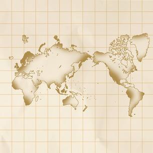 古い世界地図の写真素材 [FYI00277456]