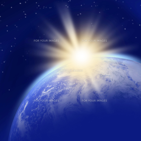 地球の夜明けの写真素材 [FYI00277519]