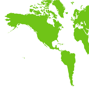 南北アメリカ地図の写真素材 [FYI00277570]