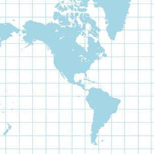 南北アメリカ大陸地図の写真素材 [FYI00277613]