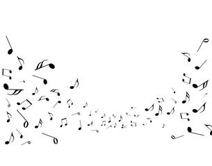 沢山の音符の写真素材 [FYI00277677]
