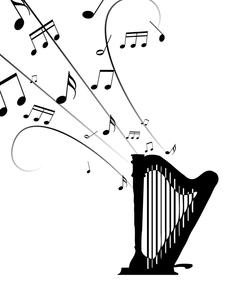 ハープを奏でるの写真素材 [FYI00277694]