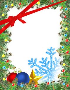 クリスマスフレームの写真素材 [FYI00277734]
