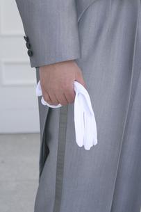 手袋を持つ花婿の手の素材 [FYI00277852]