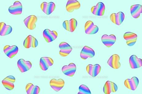 キャンディーのようなストライプのハートの写真素材 [FYI00277855]